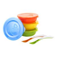 【当当自营】满趣健(munchkin)新款爱儿碗 (Love-A-Bowls)带盖彩色碗6件套 宝宝碗练习碗婴幼儿吃饭