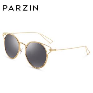 帕森偏光太阳眼镜 女士金属框炫彩膜潮墨镜驾驶镜 8115