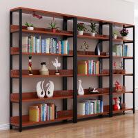 图书馆书架钢木简易铁艺货架墙上多层置物架落地书店省空间