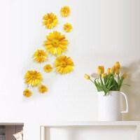 3d立体墙贴卧室床头温馨浪漫仿真菊花朵客厅电视背景墙装饰品贴花J 小