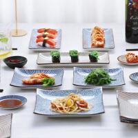 光一日式家用新款菜盘北欧创意个性方形西餐具牛排鱼寿司点心碟子套装