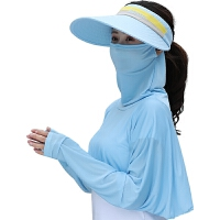 遮阳帽女夏天防晒帽折叠时尚户外骑车遮脸百搭大沿防紫外线空顶太阳帽