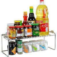 单层调料架304不锈钢置物架 厨房调味架分层架台面架可叠 50004可叠加单层架(单个)
