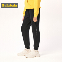 巴拉巴拉童装女童裤子儿童运动裤2019新款秋冬中大童加绒保暖长裤