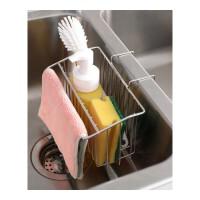 挂蓝收纳架 不锈钢 厨房收纳水槽抹布清洁工具收纳小挂篮置物架 304不锈钢B款