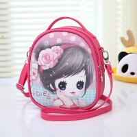 儿童洋娃娃斜挎包双肩背包韩版卡通小书包公主女童手提PU三用包包
