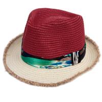 儿童草帽子海边度假防晒沙滩帽亲子太阳帽宝宝折叠遮阳帽