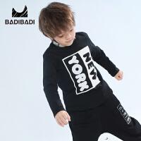 【2件3折:36】巴拉巴拉旗下 巴帝巴帝男童字母印花字母长袖T恤2018冬季新款