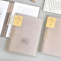 透明灰A4文件夹资料夹双强力夹双夹板试卷夹简历夹子办公用品
