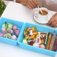 塑料收纳盒抽屉整理盒 创意储物盒中号 一只装