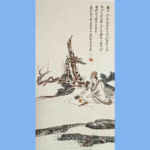"""中国著名的泼墨画家,书法家,具有极大的国际声誉,被西方誉为""""东方之笔""""张大千(人物)2"""