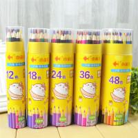 小鱼儿 3103彩色铅笔大中小学生男女生儿童幼儿学习办公美术涂色绘画文具用品桶装绘画笔秘密花园彩铅笔24色当当自营