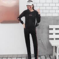 春秋2018新款时尚休闲套装卫衣女连帽宽松显瘦韩版两件套秋冬
