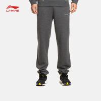 李宁卫裤男士训练系列长裤收口针织运动裤AKLK033