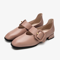 【顺丰包邮,大牌价:318】CNE一字带休闲玛丽珍女鞋女单鞋秋季新款 9T20501
