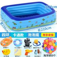 家用游泳池儿童游泳池婴幼儿室内充气加厚家用小孩超大号宝宝家庭游泳桶