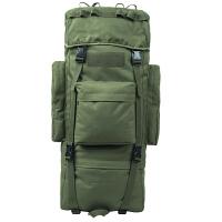 户外登山包双肩男女大容量旅行包07军背包特种兵背囊男迷彩行李包SN7150 军绿色 65L不带防雨罩