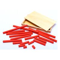 早教玩具蒙特梭利益智小型长棒2套木制游戏棒木制