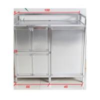 致力加厚不锈钢餐边柜灶台柜铝合金碗柜储物柜煤气灶橱柜液化气柜