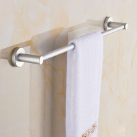 毛巾架免打孔卫生间太空铝毛巾杆单杆壁挂浴室挂件卫浴五金挂架晾