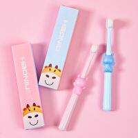 儿童牙刷万柔刷毛0-1-2-3-6-12岁软毛训练乳牙婴幼儿宝宝纳米蓝色