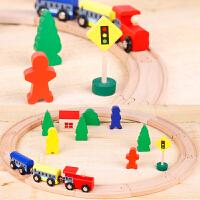 托马斯小火车头玩具套装THOMAS木质磁性轨道火车宝宝场景积木玩具