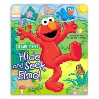 英文原版 芝麻街:阿莫捉迷藏 趣味游戏书 Sesame Street Hide and Seek, Elmo!