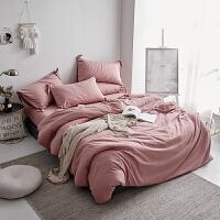 ins纯色四件套少女心床上用品被套床单双人宿舍1.21.51.8m床 1.5m床(适合2.0x2.3m的被子) 床笠款
