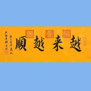 第九十十一十二届全国人大代表,中国佛教协会第十届理事会副会长,少林寺方丈释永信(越来越顺)