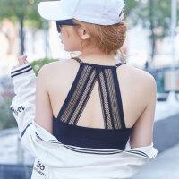 18年新款白色抹胸裹胸女薄款蕾丝吊带小背心美背文胸内衣学生少女