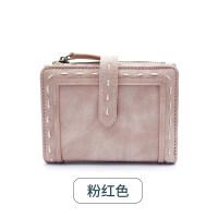 新款女士钱包2018新款女短款日韩版学生两折叠多功能简约皮夹