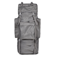 户外登山包双肩男女大容量旅行包徒步包特种兵07背囊男迷彩行李包 灰色 65L不带防雨罩