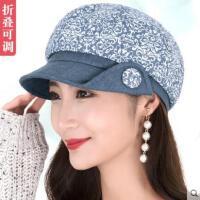 女秋季帽子韩版贝雷帽休闲百搭女帽时尚优雅秋冬盆帽渔夫帽