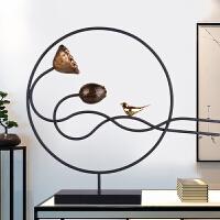 新中式禅意摆件创意家居客厅办公室玄关样板房软装饰工艺摆设礼品