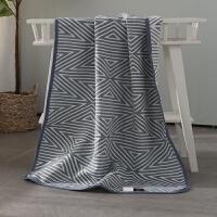 纯棉毛巾被毯子三层棉纱床单午睡盖毯多用浴巾单双人夏凉空调被