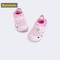巴拉巴拉女童鞋子沙滩凉鞋2019新款秋小童鞋透气室外儿童鞋洞洞鞋