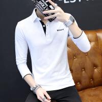 夏季新款男士短袖T恤衬衫领POLO衫翻领学生纯色韩版潮半袖体恤男 5X
