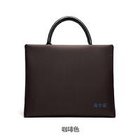 韩版职业男女士公文包时尚手提文件包商务A4帆布文件袋 定制Logo