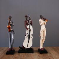 欧式美式创意家居装饰品音乐人物摆件树脂客厅玄关电视柜结婚礼品 音乐人摆件