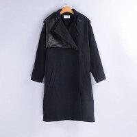 贝贝冬季新款中长款加厚毛呢外套女韩版百搭风衣时尚外套潮