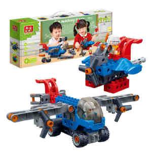 【当当自营】邦宝大颗粒益智拼装积木玩具 拧拧梦工场 二合一航天套装BB9703