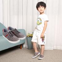 梓缇童鞋  儿童帆布鞋一脚蹬男童鞋女童布鞋板鞋韩版潮休闲鞋球鞋