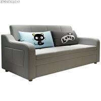 多功能可拆洗乳胶沙发床两用北欧小户型客厅储物布艺沙发 1.5米-1.8米