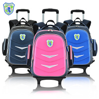 小学生拉杆书包3-4-6年级 儿童双肩书包行李箱拖拉减负带轮子