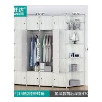 衣柜简易布艺经济型塑料组装大人衣橱钢架储物收纳柜子