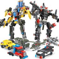 拼装积木玩具机器人模型男孩智力益智生日礼物小学生儿童变形金刚