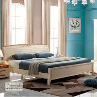 御品工匠 全实木现代简约 橡木床北欧风 双人床实木床家具床 B01床