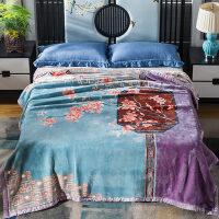 君别商场被子冬天单人珊瑚毛绒毯子冬季用加厚法兰绒拉舍尔毛毯加绒床保暖双层 200cmx230cm 约8斤