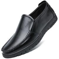 波图蕾斯男鞋经典爆款商务休闲鞋套脚耐磨头层牛皮正装皮鞋子