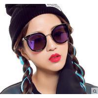 时尚防紫外线太阳眼镜 大框圆脸潮人眼镜简约舒适 男女情侣眼镜